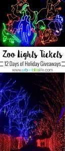 Oregon Zoo Zoo Lights Tickets Giveaway on UrbanBlissLife.com