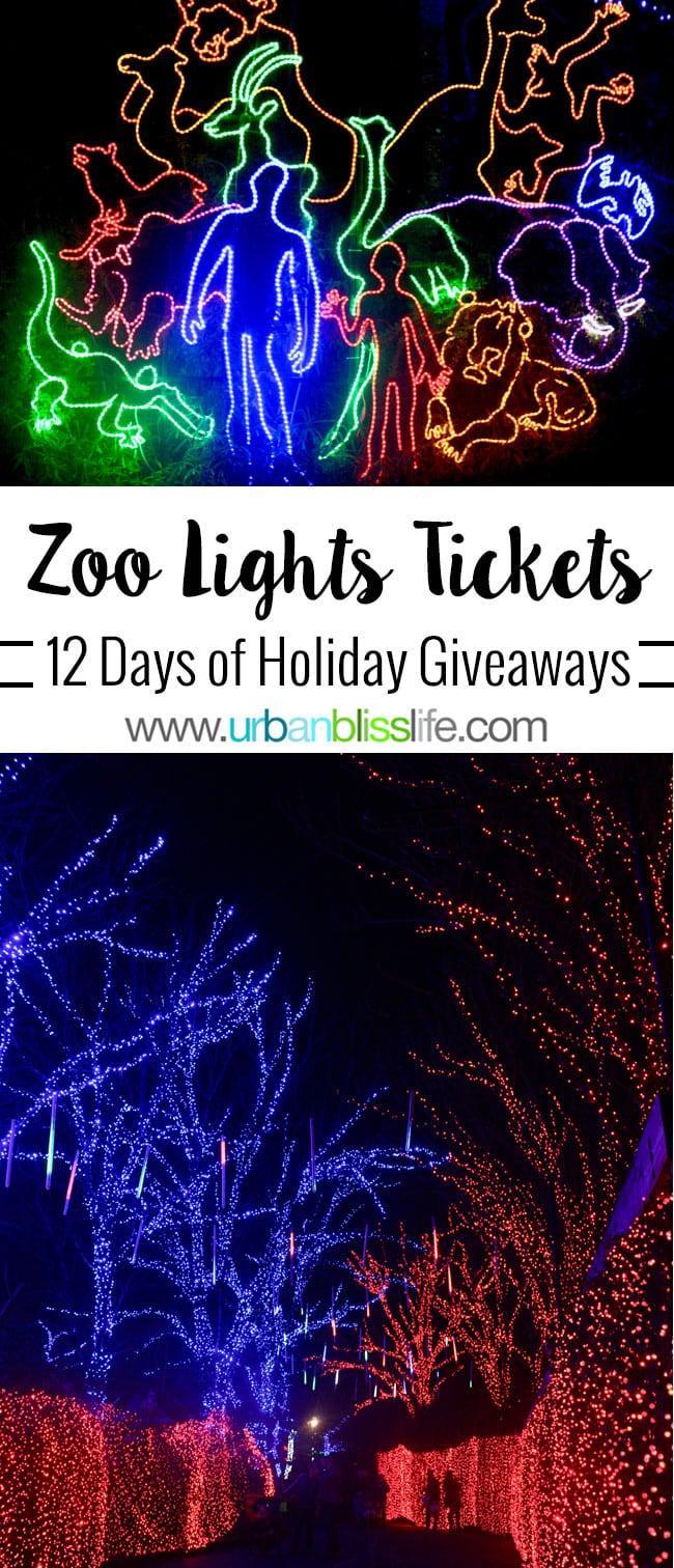 Oregon Zoo Zoo Lights Tickets Giveaway on UrbanBlissLife.com
