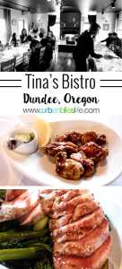 Tina's Restaurant a wine country restaurant in Dundee, Oregon. Restaurant review on UrbanBlissLife.com