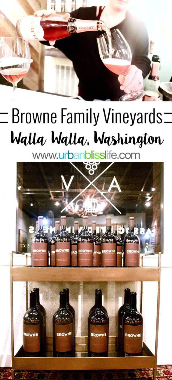 Browne Family Vineyards in Walla Walla, Washington, wine tasting room review on UrbanBlissLife.com