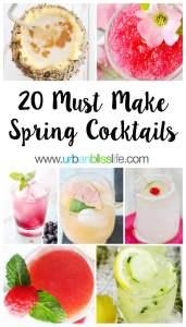 Spring Cocktail recipes on UrbanBlissLife.com