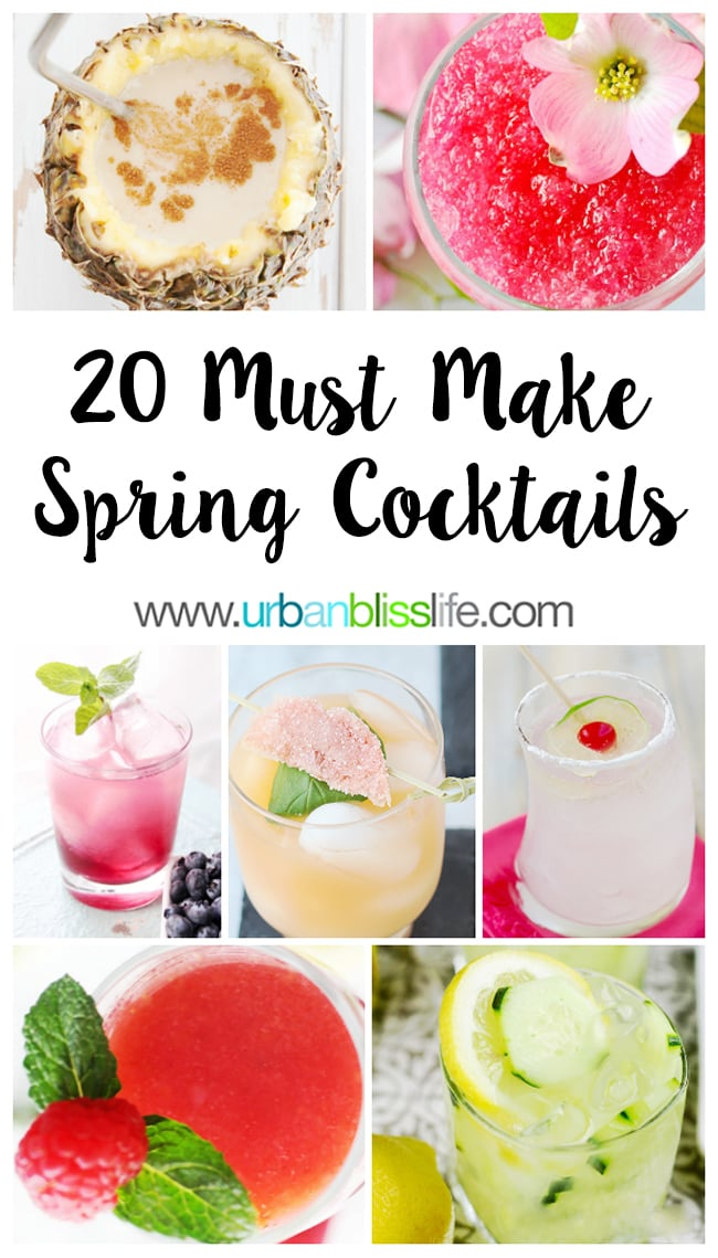 Spring Cocktail recipes on UrbanBlissLife.com