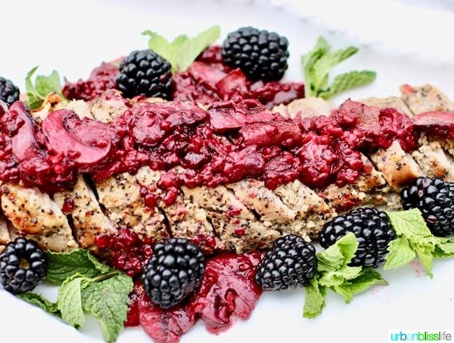 Food Bliss: Pork Tenderloin with Blackberry Bacon Sauce