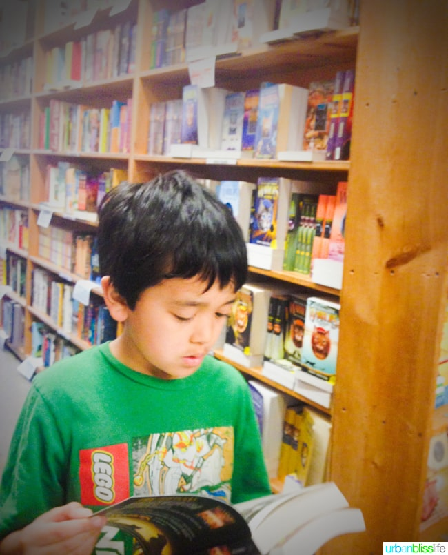 50 Things to Do in Portland, Oregon With Kids During the Summer - Powells Books, travel tips on UrbanBlissLife.com.