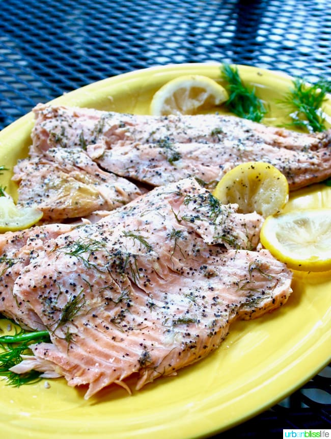 Simple Grilled Salmon With Lemon And Herbs In Foil