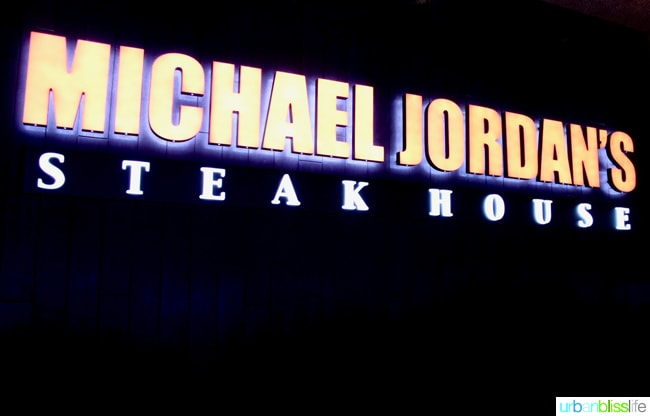 Michael Jordan's Steak House restaurant review on UrbanBlissLife.com