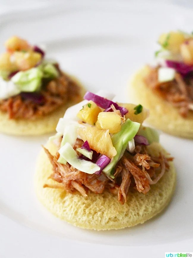Comfort Food Meets Party Food: Pulled Pork Sliders with Pineapple Slaw