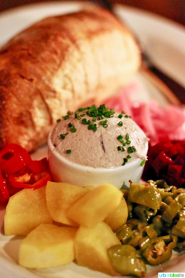 Smoked Bluefish Pate at Radar restaurant in North Mississippi Ave in Portland, Oregon