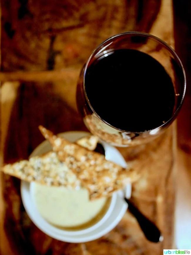 Skamania Lodge Washington clam chowder red wine. Travel stories & hotel reviews on UrbanBlissLife.com
