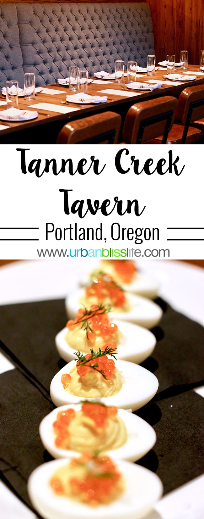 Tanner Creek Tavern Portland, Oregonrestaurant review on UrbanBlissLife.com.