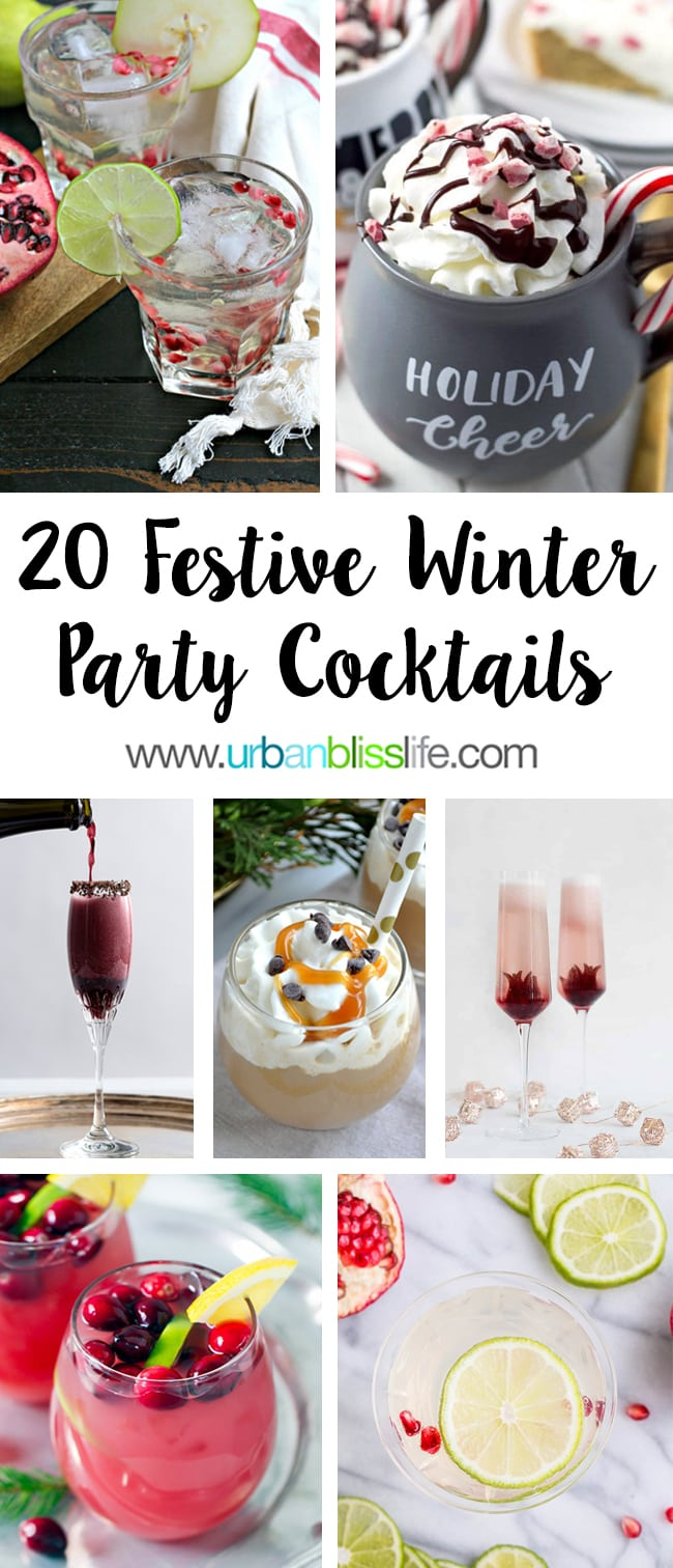 20 Festive Winter Party Cocktails on UrbanBlissLife.com