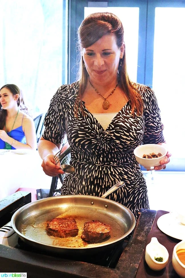 Steak Diane at Brennan's Restaurant, travel stories on UrbanBlissLife.com