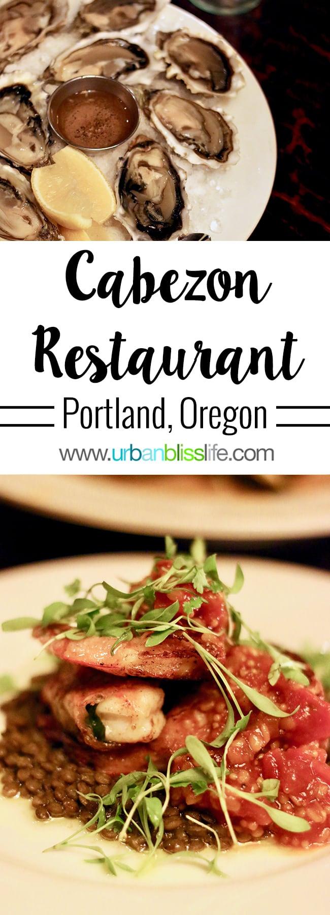 Cabezon restaurant in Portland, Oregon. Full restaurant details on UrbanBlissLife.com