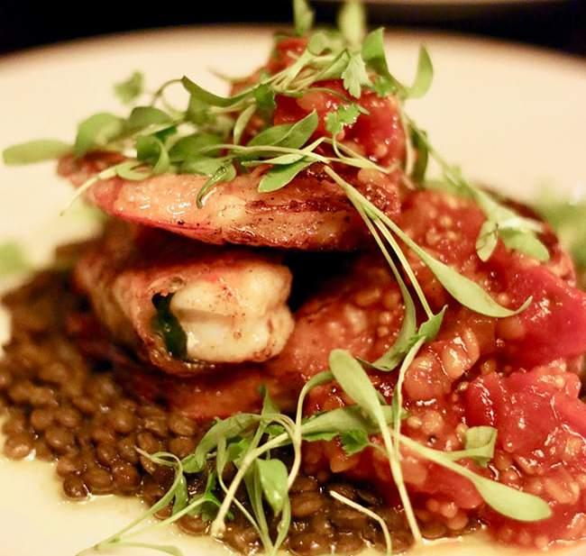 Shrimp at Cabezon restaurant in Portland, Oregon. Full restaurant details on UrbanBlissLife.com