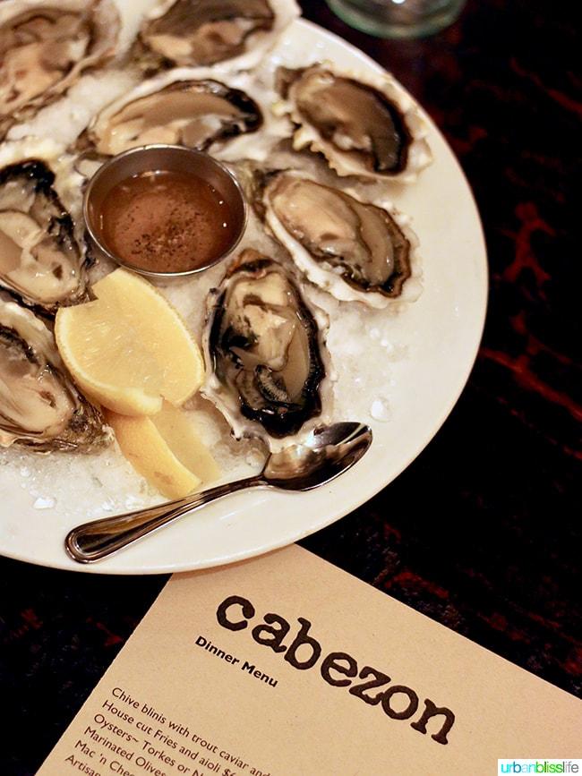 oysters at Cabezon restaurant in Portland, Oregon. Full restaurant details on UrbanBlissLife.com