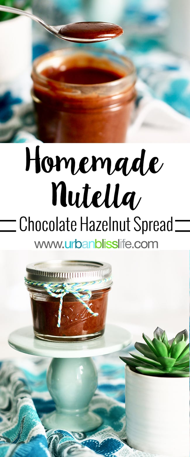 Homemade Nutella recipe on UrbanBlissLife.com