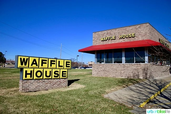 Holidays in the Heartland: Waffle House in Kansas, on UrbanBlissLife.com