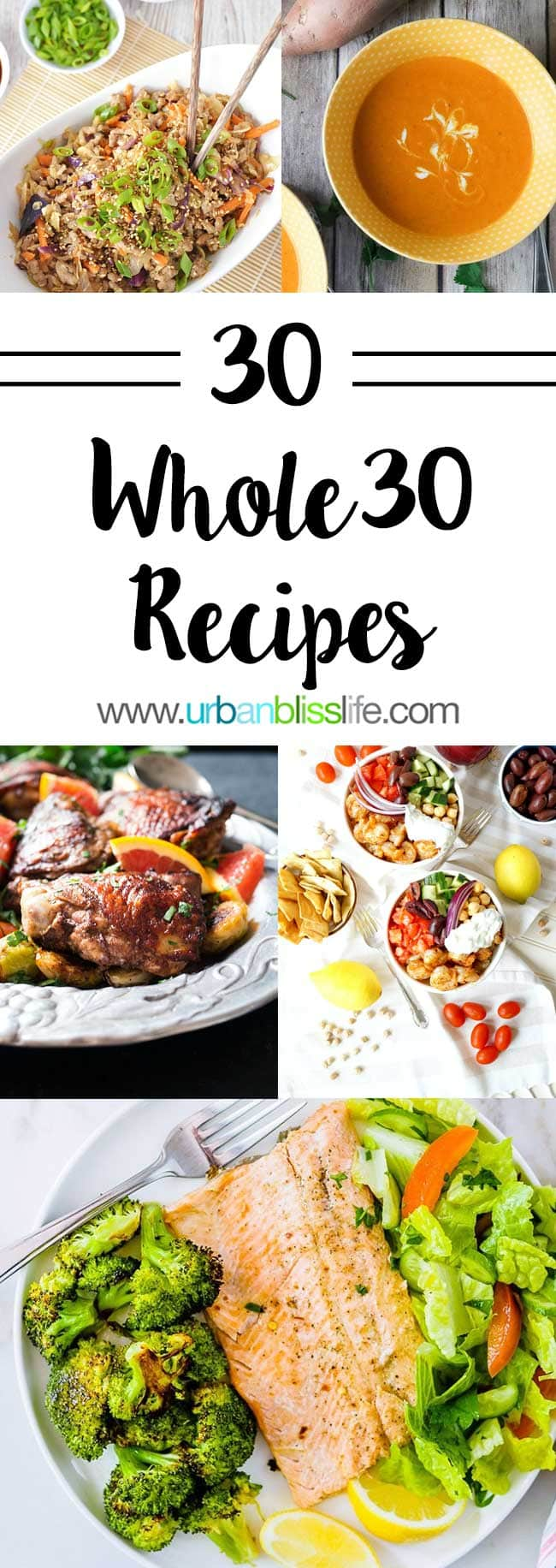 30 Whole30 Recipes for breakfast, lunch, dinner, and more