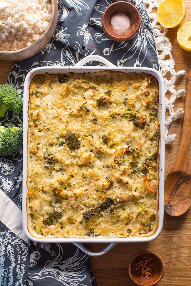 chicken broccoli cauliflower rice casserole