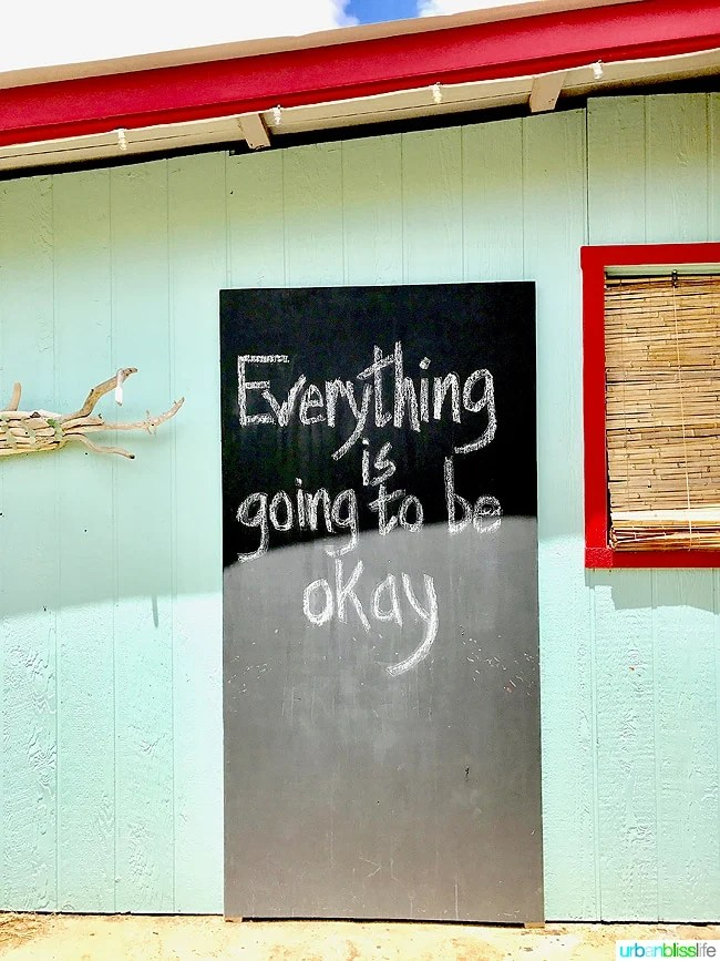 Everything is going to be okay sign in Kapaa Hawaii