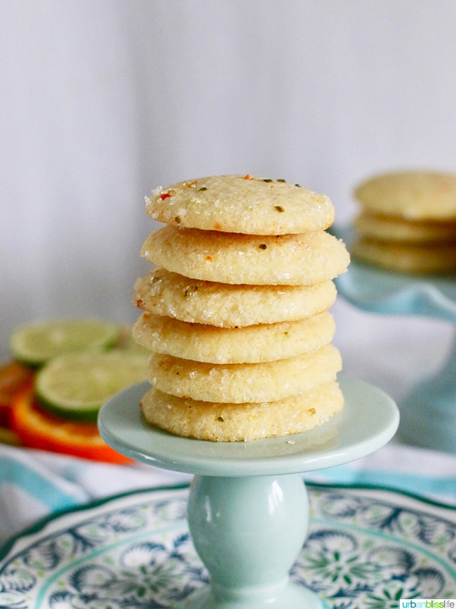 Citrus Sugar Cookies recipe on UrbanBlissLife.com