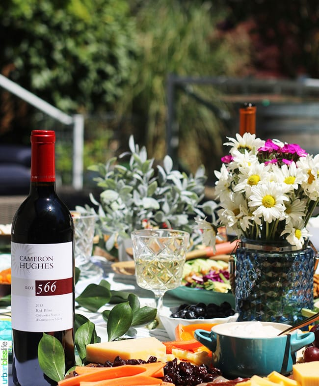 sunny summer soiree red wine tablescape
