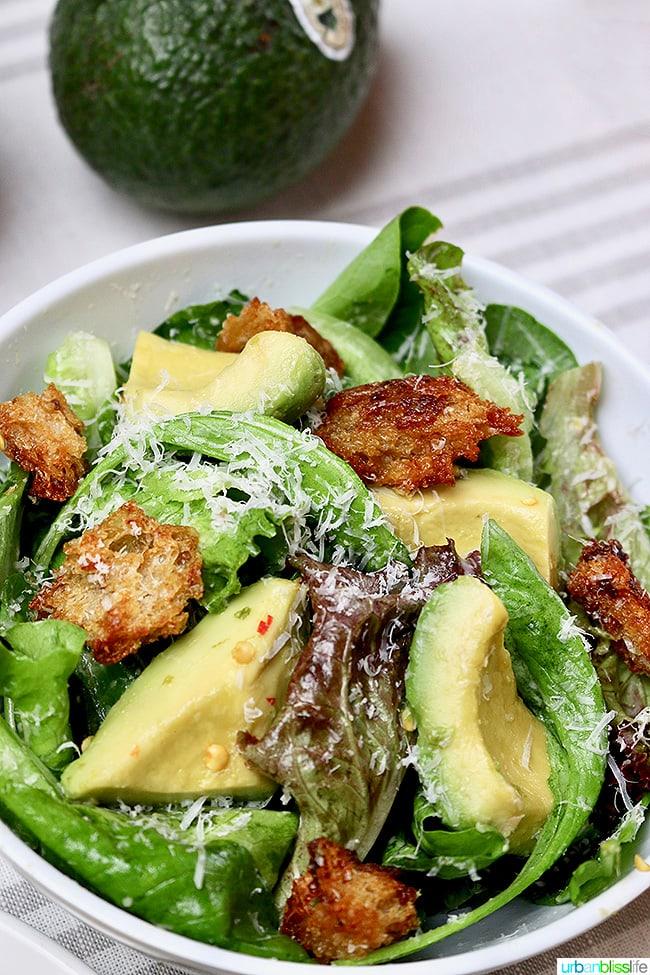 Checkerboard Pizza avocado salad