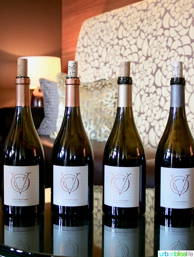 Open Claim Vineyards wine bottles