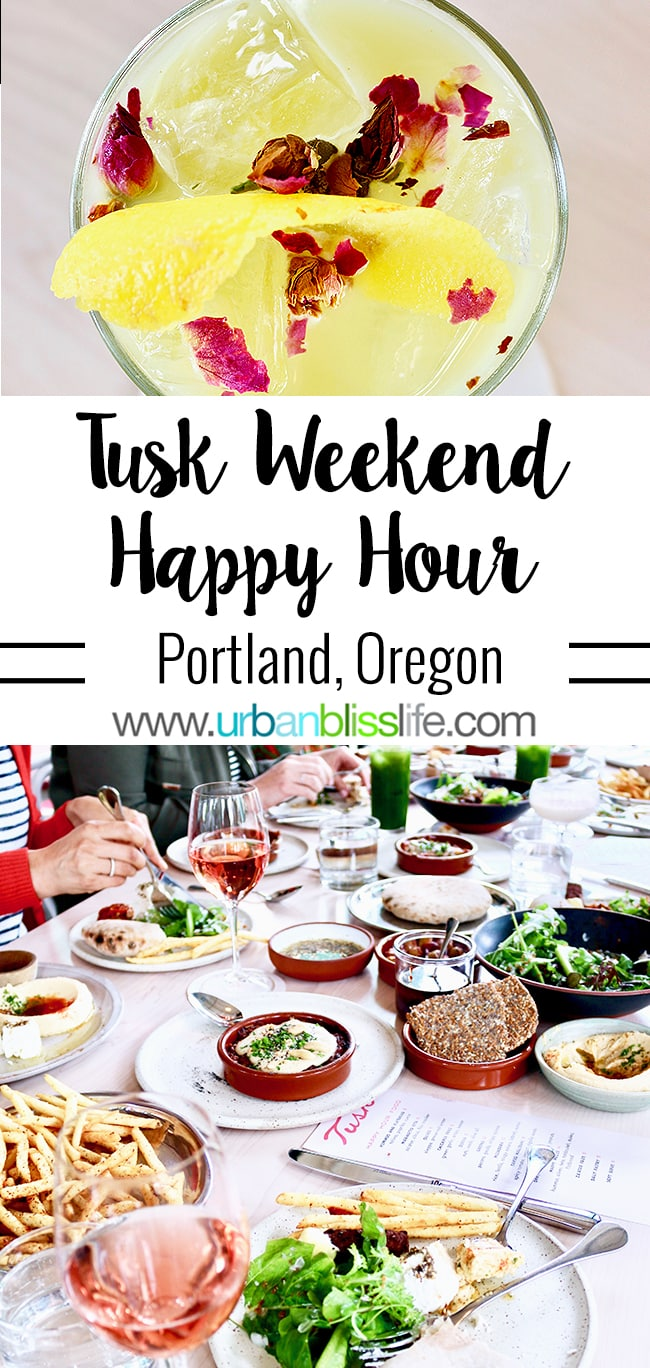 Tusk restaurant weekend happy hour