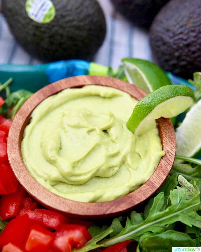 Creamy Avocado Lime Dressing & Dip