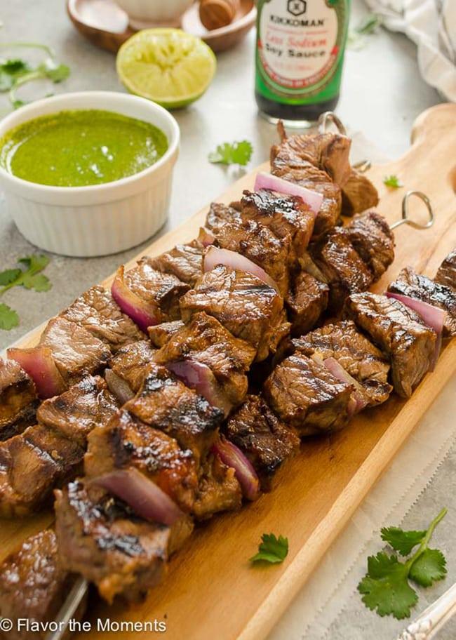 Mediterranean Steak Kebabs
