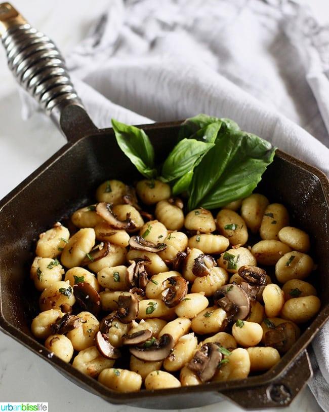 Skillet Gnocchi with Mushrooms