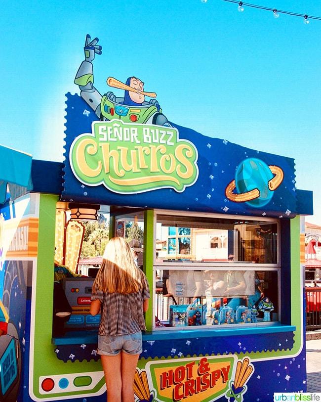 Disneyland Pixar Pier Senor Buzz Churros