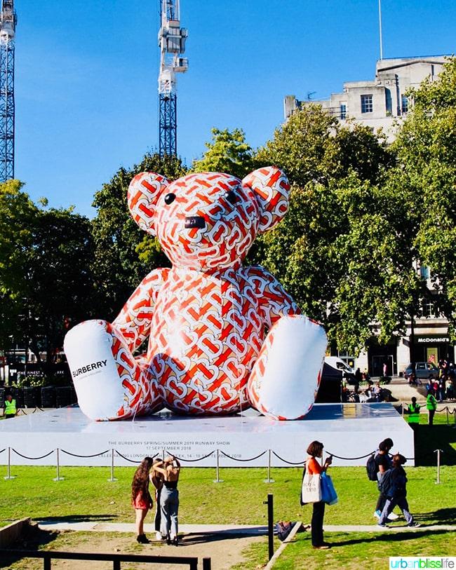 London Burberry Bear