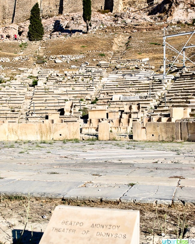 Theater of Dionysus at the Acropolis in Athens, Greece