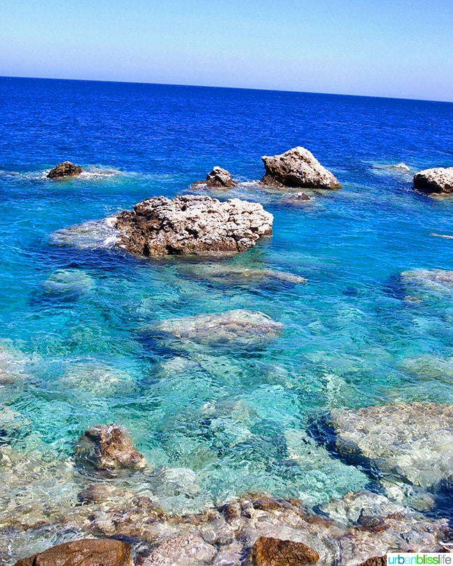 beautiful turquoise waters of Karpathos island, Greece