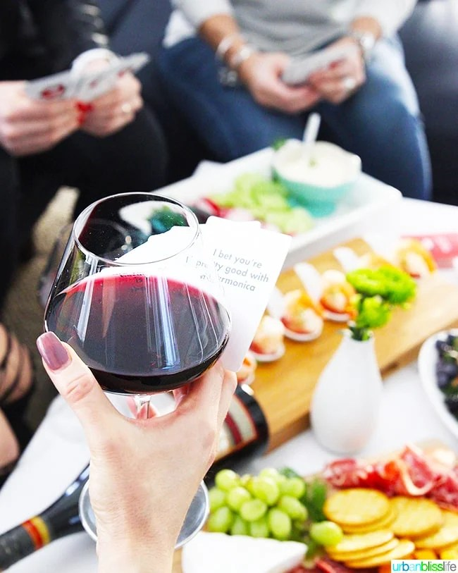 wine and game night