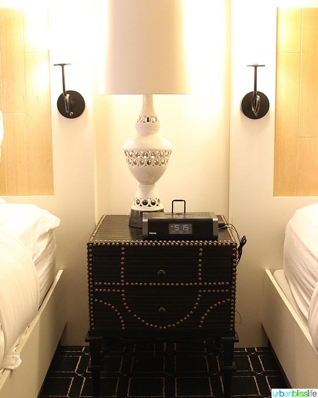 bedside tables at Hotel Valencia Santana Row