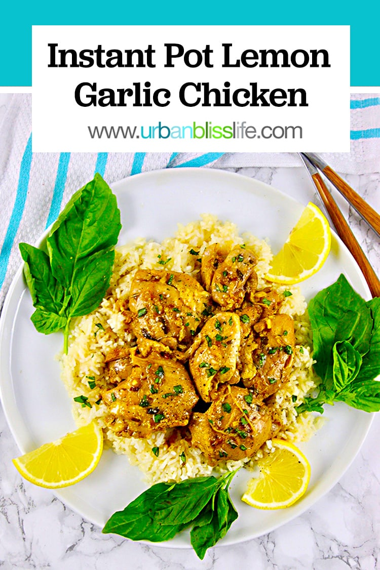 Instant Pot Lemon Garlic Chicken - Urban Bliss Life