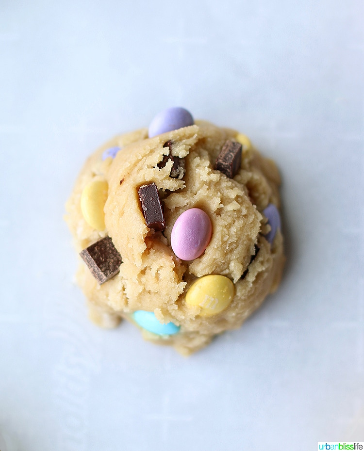 Giant Chocolate Chip M & M Cookie dough