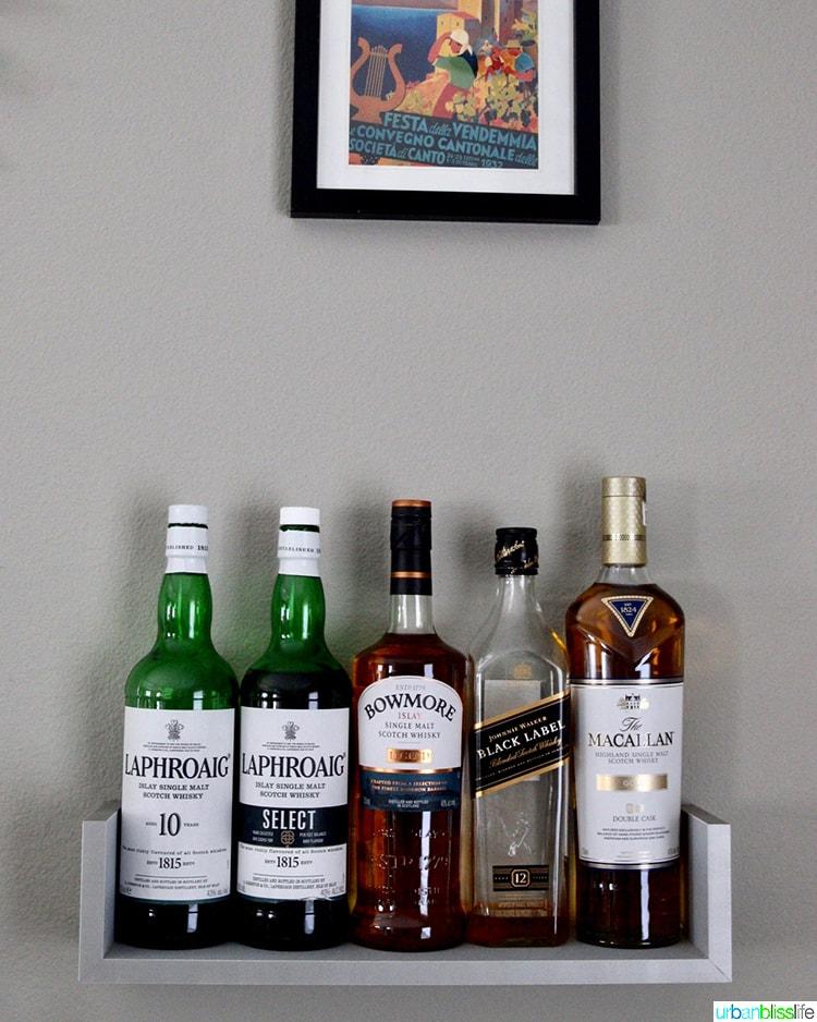 home bar whisky