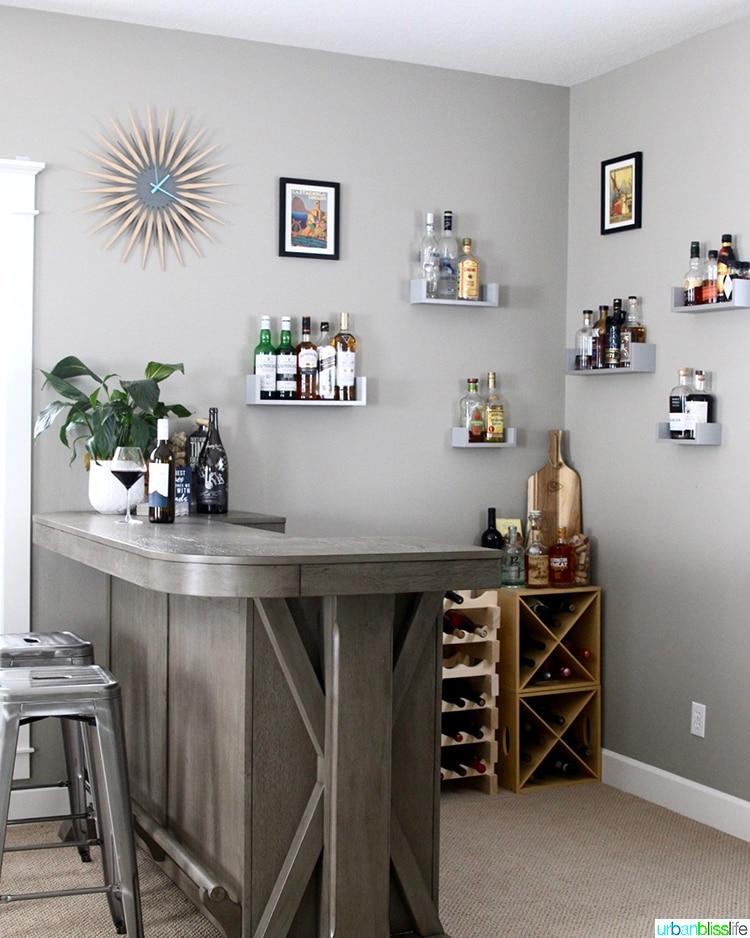 side angle home bar