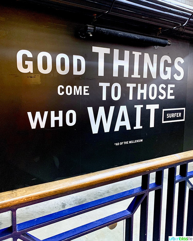 Good Things Come to Those Who Wait Guinness Storehouse