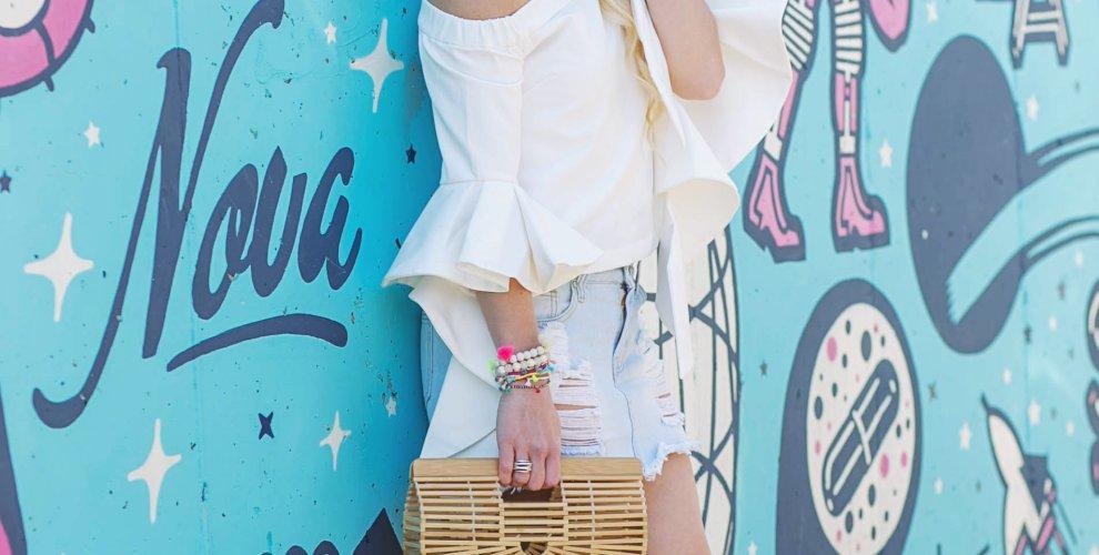 bell-sleeve-white-chicwish-top-denim-skirt