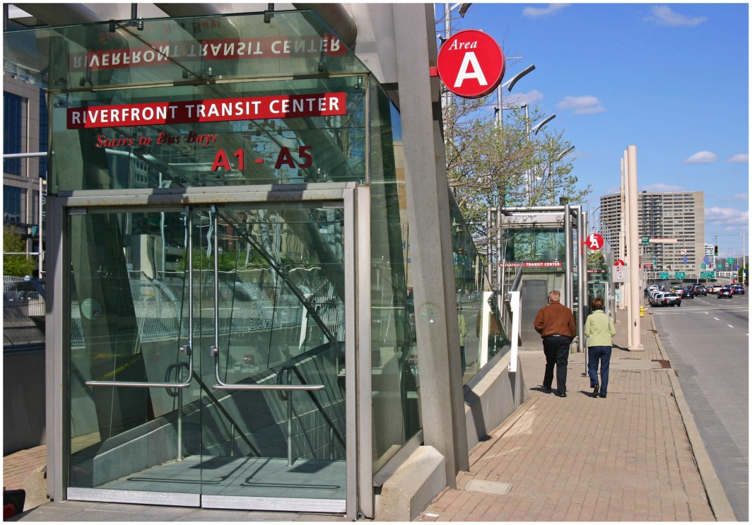 Second Street Entrance to the Riverfront Transit Center [Randy Simes]