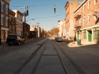 Cincinnati Streetcar Track Construction