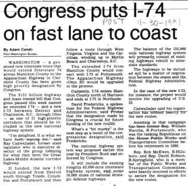 Cincinnati Post 11.09.1991 Story