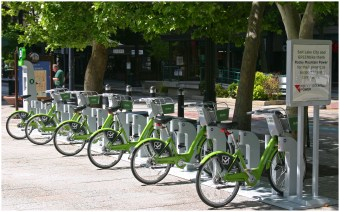 Salt Lake City GREENbike Station