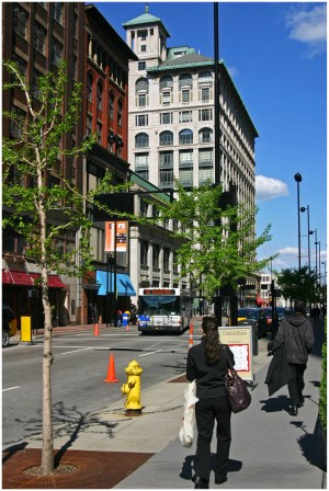Pedestrians on Sixth Street (Randy Simes)