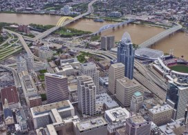 Aerial View of U.S. Bank Arena [Brian Spitzig]